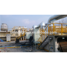 Low price high profit batch type waste tire pyrolysis plant no pollution.