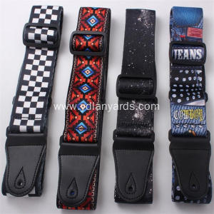 Personalized Polyester Dye Sublimation Guitar Strap