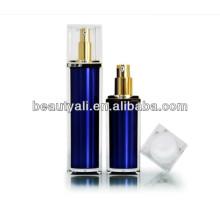 30 мл 50 мл Роскошные квадратные акриловые (PMMA) бутылки с безвоздушным распылителем