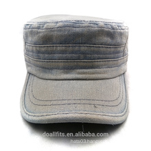 100% cotton for cowboy material army cap good quality made in china