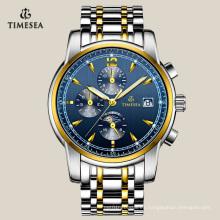 Reloj mecánico con banda de acero inoxidable de 2 tonos para hombres 72109