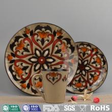 Vajilla de porcelana de color esmaltado de diseño vintage (conjunto)