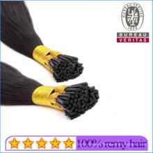 Wholesale 1b# Black Remy Hair Grade Brazilian Hair Human Virgin Hair I Tip Hair Extension