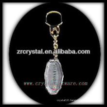 LED crystal keychain with 3D laser engraved image inside and blank crystal keychain G032