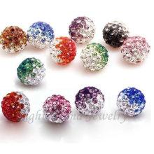Mezclado color 6 mm 8 mm 10 mm cristal Shamballa cuentas sueltas hallazgos para pulseras