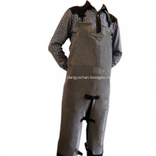 Stainless steel chainmail apron with split leg