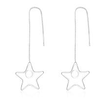 Colgante estrella Colgante de plata plateado pendientes hechos en Yiwu