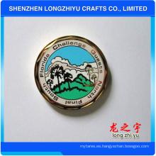 Moneda de honor colorida conmemorativa del fabricante de China