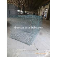 Хорошее качество оцинкованная / ПВХ покрытием Gabion Box сетка (завод)