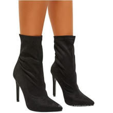 Ankle Retro Round Toe Winter Zipper MID-Calf Boots High Heels Shoes
