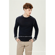 Acrylic Wool Round Neck Men Pullover Knitwear
