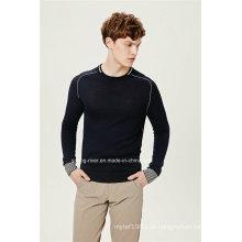 Acrílico Lã Redonda Pescoço Homens Pullover Knitwear