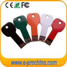 Multi Color Aluminium Key Form USB-Stick mit benutzerdefinierten Logo