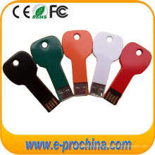 Multi Color Aluminum Key Shape USB Flash Drive with Custom Logo