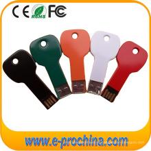 Movimentação chave de alumínio do flash de USB da forma da multi cor com logotipo feito sob encomenda