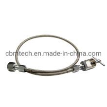 "Flex Oxygen Pigtail Cga 540 48"" Braided Stainless Steel"