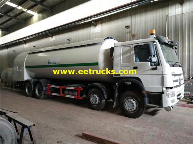 LPG refilling truck