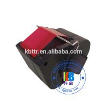Compatible fluorescent red Frama ink printer ribbon cartridge