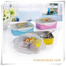Plastic Stainless Steel Lunch Box for Promotional Gifts (HA62018)
