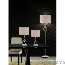 Elegant Polished Chrome Iron Floor Lamp
