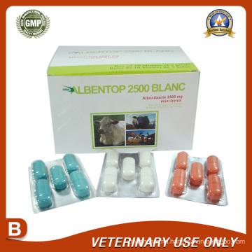 Veterinary Drugs of Albendazole Bolus 2500mg