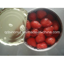 2015 New Crop Canned Strawberry in L/S (HACCP, ISO, HALAL, KOSHER, BRC, FDA)