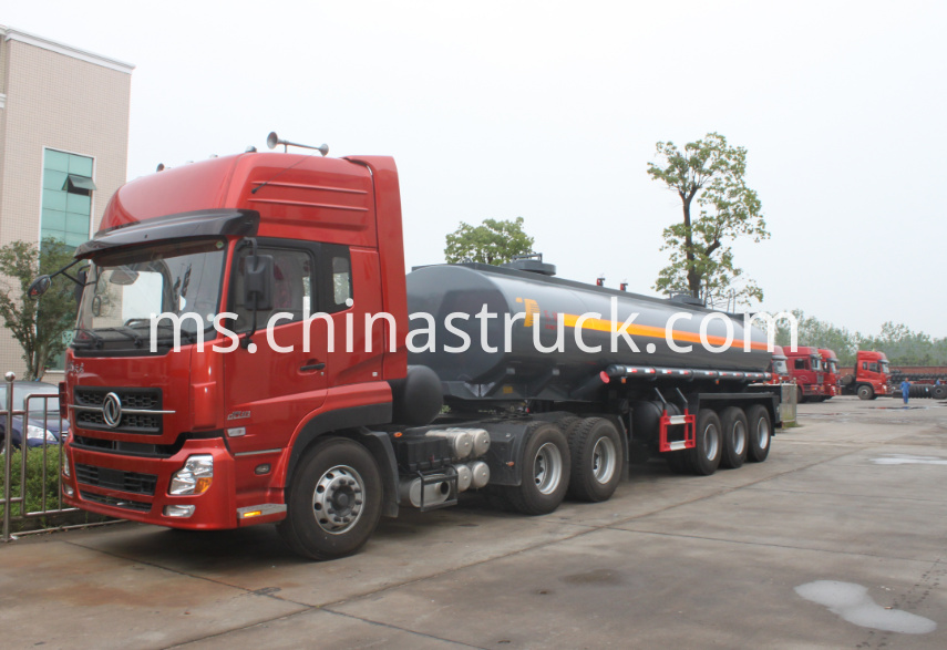 3 axle strong sulfuric acid tank semi-trailer