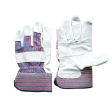 Cow Split Patched Palm Stripe Cotton Back Glove (3059)