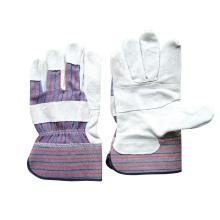 Корова Сплит Патч Полосатая хлопчатобумажная задняя перчатка (3059)