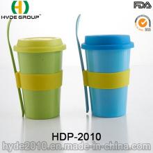 Vende la taza de café sin hilos de la fibra de bambú de BPA (HDP-2010)