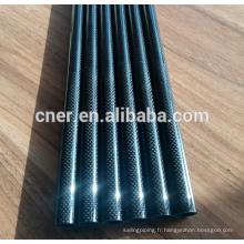 Poteaux d'aspiration de gouttière en fibre de carbone brillants 3k pour le nettoyage extérieur du toit
