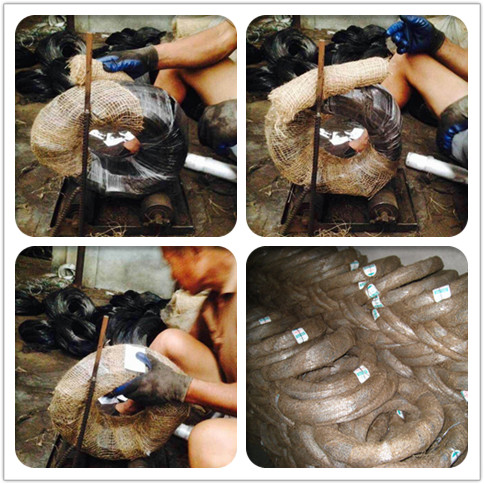 packing photo of black annealed wire