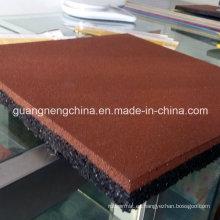 Azulejo de goma cuadrada de 500 mm de azulejos de goma Pavimento de goma de colores pavimentación de pisos de goma