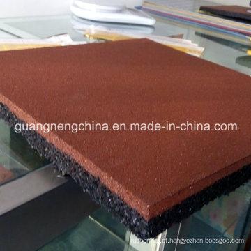 Revestimento de borracha do campo de jogos de borracha colorido quadrado do Paver da telha da borracha do azulejo 500mm