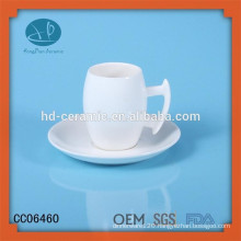 Ceramic Mugs with Coasters ,ceramic cup and saucer with logo, ceramic tea cups with printing
