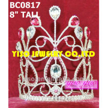 Corona de tiara de cristal