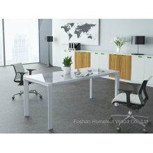 Büromöbel Kleine rechteckige Glas Konferenztisch Glas Besprechungstisch (HF-LB17)