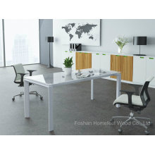 Office Furniture Small Rectangular Glass Conference Table Glass Meeting Table (HF-LB17)