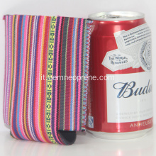 Nuovo arrivo Strip Design Neoprene Can Coolers