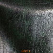 Snakeskin Pattern Microfiber Leather for Sofa Upholstery (1609#)