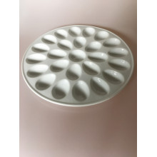 porcelain egg tray ceramic White Color paint Palette