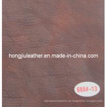 Cor dupla de couro de óleo de cera para sofá e móveis