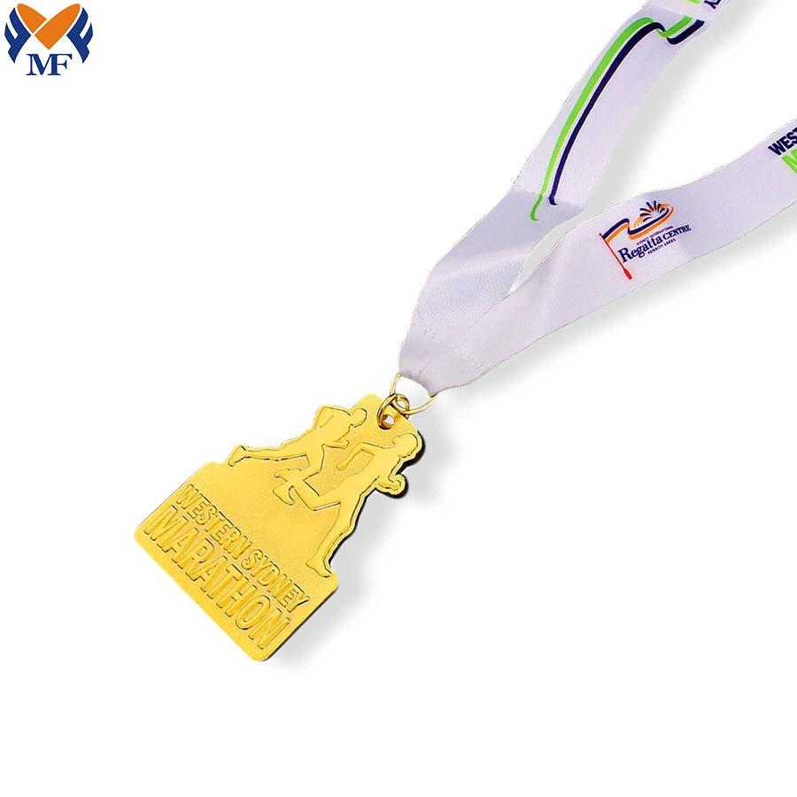 Custom Marathon Gold Medals
