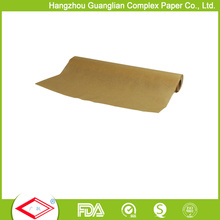 Ungebleichte Brown Greaseproof Papierrollen Food Wrapper