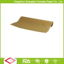 38cmx5m УЛХ Небеленой коричневая Силиконизированная Бумага для выпечки рулон
