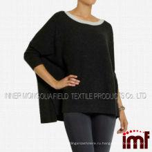 Бато шеи прохладно расслабленной пончо свитер дамы моды корейский свитер