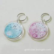 Cheap Promotional Acrylic Key Ring