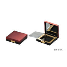 Luxury Purplish Red Compact Powder Container With Mirror
