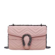 One-Shoulder Diagonal Bag Women′ S 2021 New Fashion Tote Shoulder Bag Luxury Handbags Women Crossbody Bag with Chain