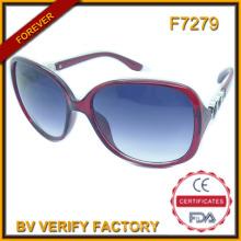 F7279 Moda promocional PC marco gafas de sol personalizado logotipo de la marca grabado